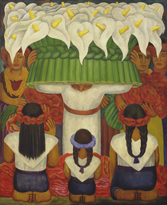 Flower Festival:  Feast at Santa Anita by Diego Rivera